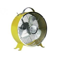 Tristar VE-5964 Retro Tafel Ventilator Geel 25cm